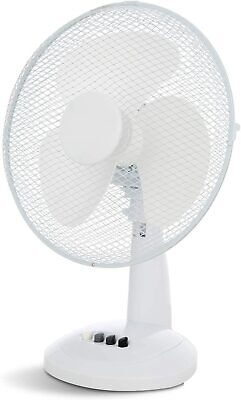 Benross 12  Inch Desk Fan Oscillating 3 Speed White • 14.99£