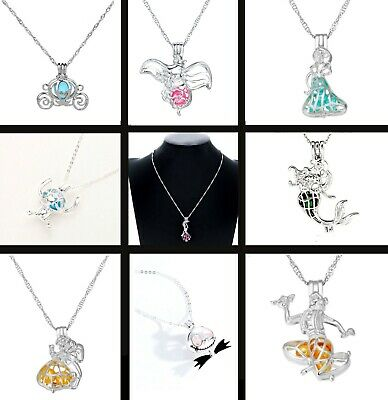 £8.99 • Buy Disney Character Cage Charm Necklace Pendant Silver Tone With Bead