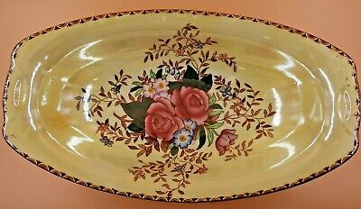 £25 • Buy Vintage Maling Pottery Yellow Lustre Ware Rosalind Pattern Bowl From 1930's.