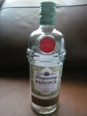 EMPTY  TANQUERAY  RANGPUR 70 Cl  GIN BOTTLE  • 2.50£