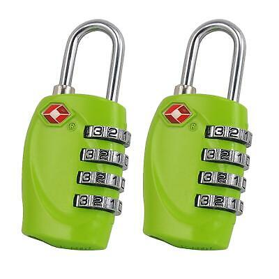 AU14.99 • Buy 2x TSA Approved 4 Dial Combination Suitcase Luggage Security Padlock Travel Lock