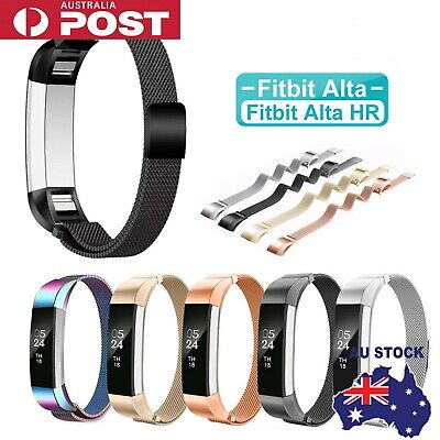 AU12.89 • Buy Stainless Steel Replacement Spare Band Strap For Fitbit Alta / Alta HR