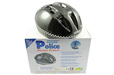 'POLICE'BIKE HELMET 54-58cm MED CYCLING HELMET REDUCED PRICE BARGAIN LTD STOCK • 9.99£