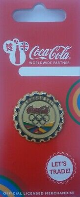 £14.95 • Buy Official Coca Cola London 2012 Olympic Gold Medal Bottle Cap Pin Badge Brand New