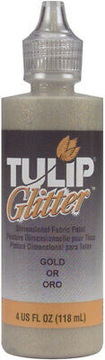 Tulip Dimensional Fabric Paint 4oz-Glitter - Gold • 7.49£