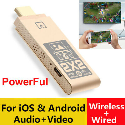 $ CDN18.87 • Buy Wireless WiFi + USB Cable 2in1 Phone Connect To TV HDTV HDMI IOS Android Adapter