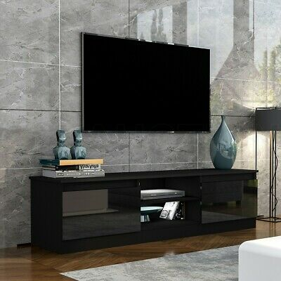 AU169.95 • Buy 160cm TV Stand Cabinet 2 Doors High Gloss Wood Entertainment Unit Storage Shelf