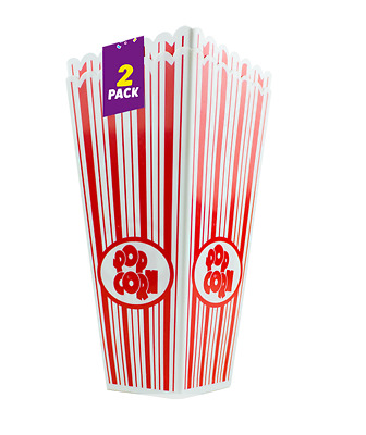 Plastic Novelty Popcorn Carton Box Container Movie Party Snacks • 5.99£