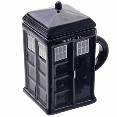 £7.95 • Buy Novelty Square London Police Box Shaped Coffee Mug Tea Cup With Lid New In Box *