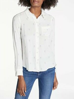 $ CDN143.77 • Buy NWT Anthropologie Rails Kate Printed Silk Shirt Rainbow Pineapple Size Small