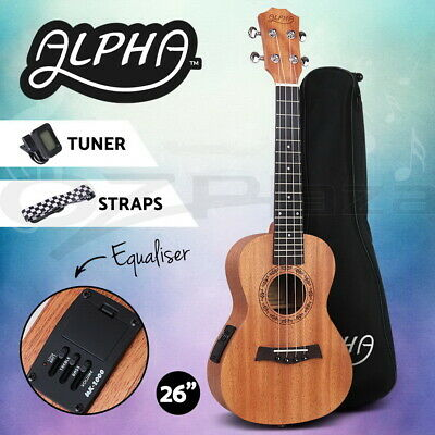 AU89.95 • Buy Alpha 26  Electric Tenor Ukulele Mahogany Ukuleles Uke Hawaii Guitar EQ Tuner