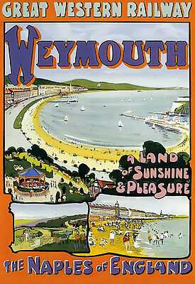 £7.99 • Buy Weymouth - GWR Railway - Travel Vacation Holiday A3 Art Poster Print