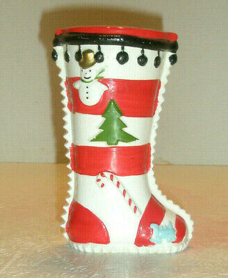$ CDN29.44 • Buy Vintage SHAFFORD Christmas Bank Stocking Snowman Tree Candy Cane Toy