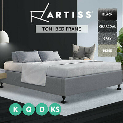 AU169 • Buy Artiss Bed Frame King Single Double Queen Size Bed Base Frame Platform Mattress