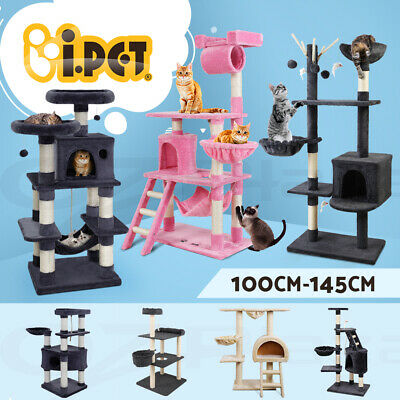 AU82.90 • Buy I.Pet Cat Tree Trees Scratching Post Scratcher Tower Condo House 100-141cm