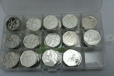 Fifty Pence Coin Storage Holder Container 165 X 50p Or 112 X £2 Pound Jewellery  • 3.29£