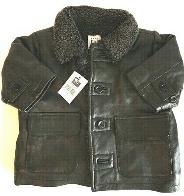 £53.10 • Buy Vintage Baby Gap NWT!!!  2000  Boy's Leather Jacket With Wool Lining