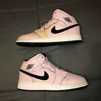buy online 331fa 47663 Air Jordan 1 Mid GS Pink Foam Black Size 5 555112 601 Brand New With Defects