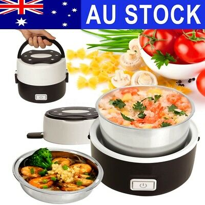 AU24.88 • Buy AUS Portable Electric Lunch Box 2 Layer 1L Mini Steamer Pot Heating Rice Cooker