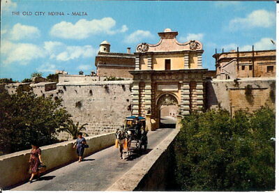 Malta: The Old City, Mdina - Posted 1974 • 3.25£