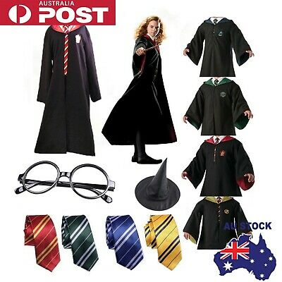 AU26.89 • Buy Harry Potter Gryffindor Slytherin Tie Scarf LED Wand Cosplay Costume Set