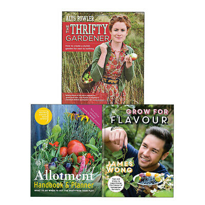 RHS Allotment Handbook & Planner,RHS Grow For Flavour 3 Books Collection Set NEW • 22.99£