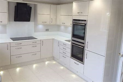 Kitchen Units Complete- White Gloss Door On White Texture Units, Blum Soft Close • 69£