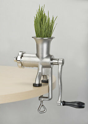 $85.50 • Buy LIGHTLY USED Miracle Exclusives MJ445 Manual Stainless Steel Wheatgrass Juicer