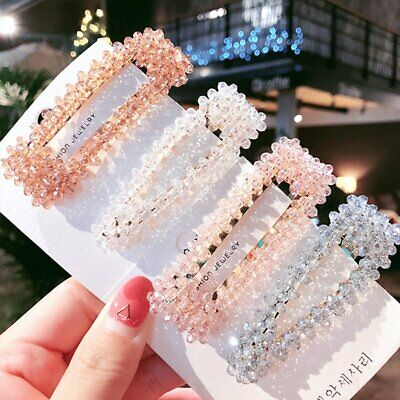 $1.08 • Buy NEW Crystal Bead Hair Clip Hairband Comb Bobby Pin Barrette Hairpin Headdress