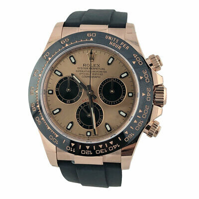 $ CDN43717.92 • Buy Rolex Daytona Everose Rose Gold Ceramic Bezel Oysterflex 116515 40mm Pink