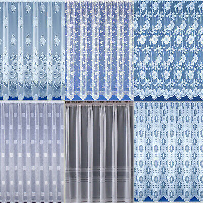 £4.95 • Buy Net Curtains. White. Choice Of 6 Designs. Sold And Priced By The Metre