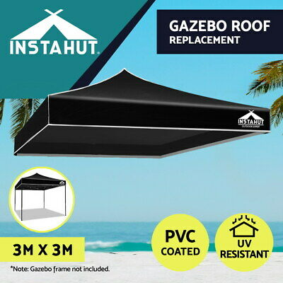 AU40.76 • Buy Instahut Gazebo 3x3 Pop Up Marquee Replacement Roof Outdoor Wedding Tent Black