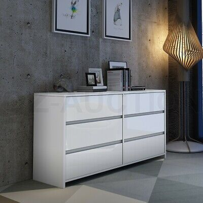 AU269.95 • Buy High Gloss 6 Chest Of Drawers Tallboy Dresser Table Storage Bedroom Cabinet WH