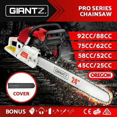 AU109.95 • Buy Giantz Petrol Chainsaw Commercial E-Start Bar Tree Pruning Chain Saw Top Handle