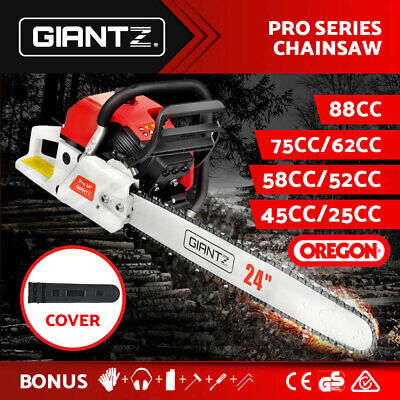 AU199.95 • Buy Giantz Petrol Chainsaw Commercial E-Start Bar Tree Pruning Chain Saw Top Handle