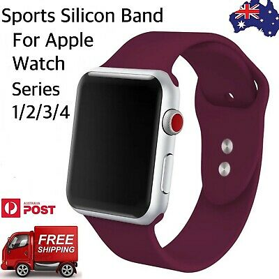 AU5.50 • Buy Apple Watch Soft Sports Silicone Band. Breathable Band For IWatch Series 4/3/2/1