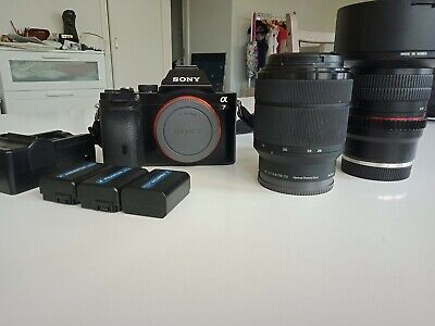 AU1690 • Buy Sony A7 Mirrorless Camera + Sony 28-70mm F/3.5-5.6 Lens + Samyang 14mm F/2.8...