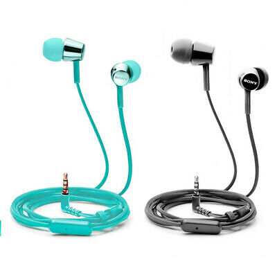 AU41.80 • Buy Sony MDR-EX155AP In-Ear Stereo Headphones With Remote - Black / Blue - [Au Stock