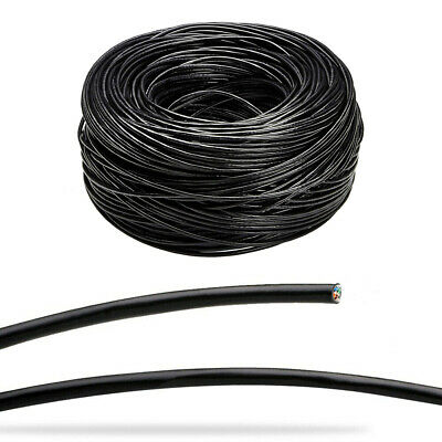 £11.95 • Buy CAT6 Outdoor External UTP LAN Network Ethernet Patch Raw Cable Black 50-305m Lot