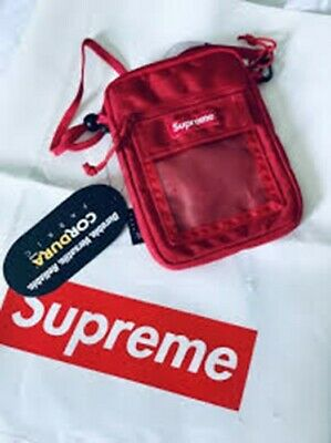 $ CDN199 • Buy 🔥Supreme CORDURA Utility Pouch Bag Red SS19