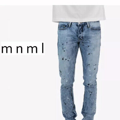 $ CDN46.99 • Buy Mnml 40 Jeans 64$ Denim Crop Ankle Pants Splash Men's Tapered Cropped