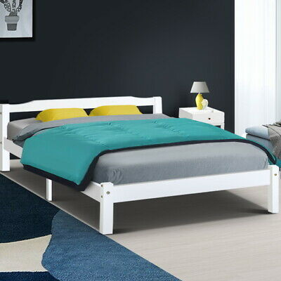 AU118.95 • Buy Artiss Wooden Bed Frame Queen Double King Single Full Size Mattress Base Timber