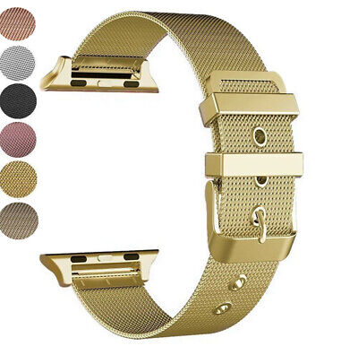 AU14.77 • Buy Milanese Loop Strap Watch Band For Apple Watch Series 1/2/3/4 38/42mm 40/44MM