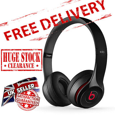 View Details Beats By Dr Dre Solo 2 - Glossy Black /Red - Wired On-Ear Headphones - Read More • 49.99£