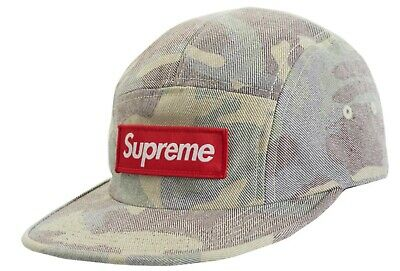 $ CDN249 • Buy 🔥supreme Ss19 Washed Out Camo Camp Cap Hat Woodland Camo