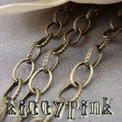 1 Metre Antique Bronze 8x5mm Patterned Belcher Chain • 0.99£