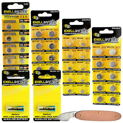 AU18.55 • Buy 43pc Essential Batteries Kit 23A L1154 L1131 L936 L626 & Watch Opener