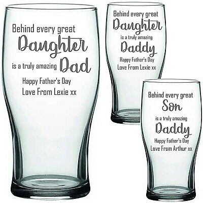 £9.99 • Buy Personalised Engraved PINT Glass FATHERS DAY DAD DADDY POPS FATHER'S DAY Gifts