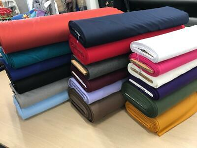 PONTE ROMA KNIT SPANDEX Double Stretch Jersey Fabric Material150cm Wide Colours • 7.99£