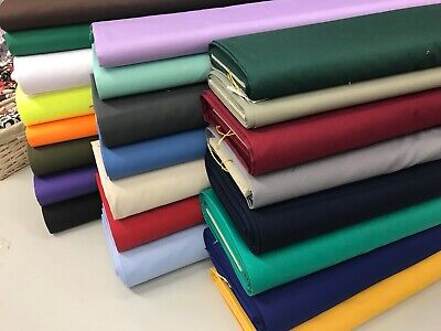 £4 • Buy Plain Cotton Drill Fabric 150cm Wide Premium Quality, Twill Extra Thick 50cm NHS